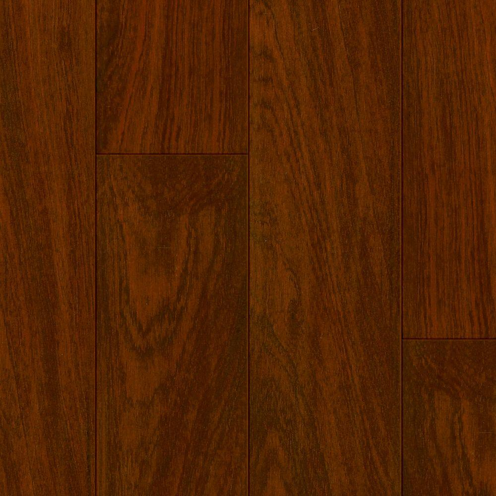 Bruce Sapele Roasted Bean 12 mm Thick x 7.64 in. Wide x 88.98 in. Length Click Lock Laminate Flooring (18.78 sq. ft. / case), Dark