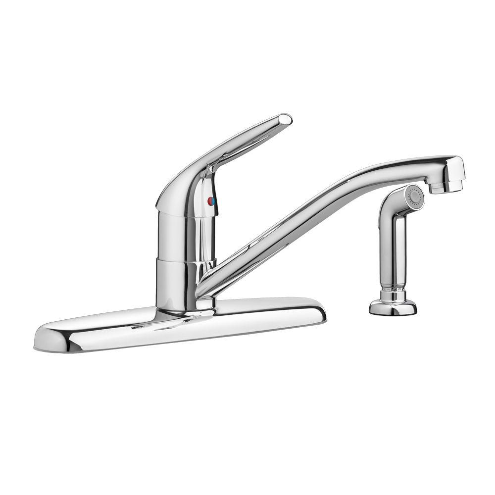 Colony Choice Single-Handle Standard Kitchen Faucet with Side Sprayer in