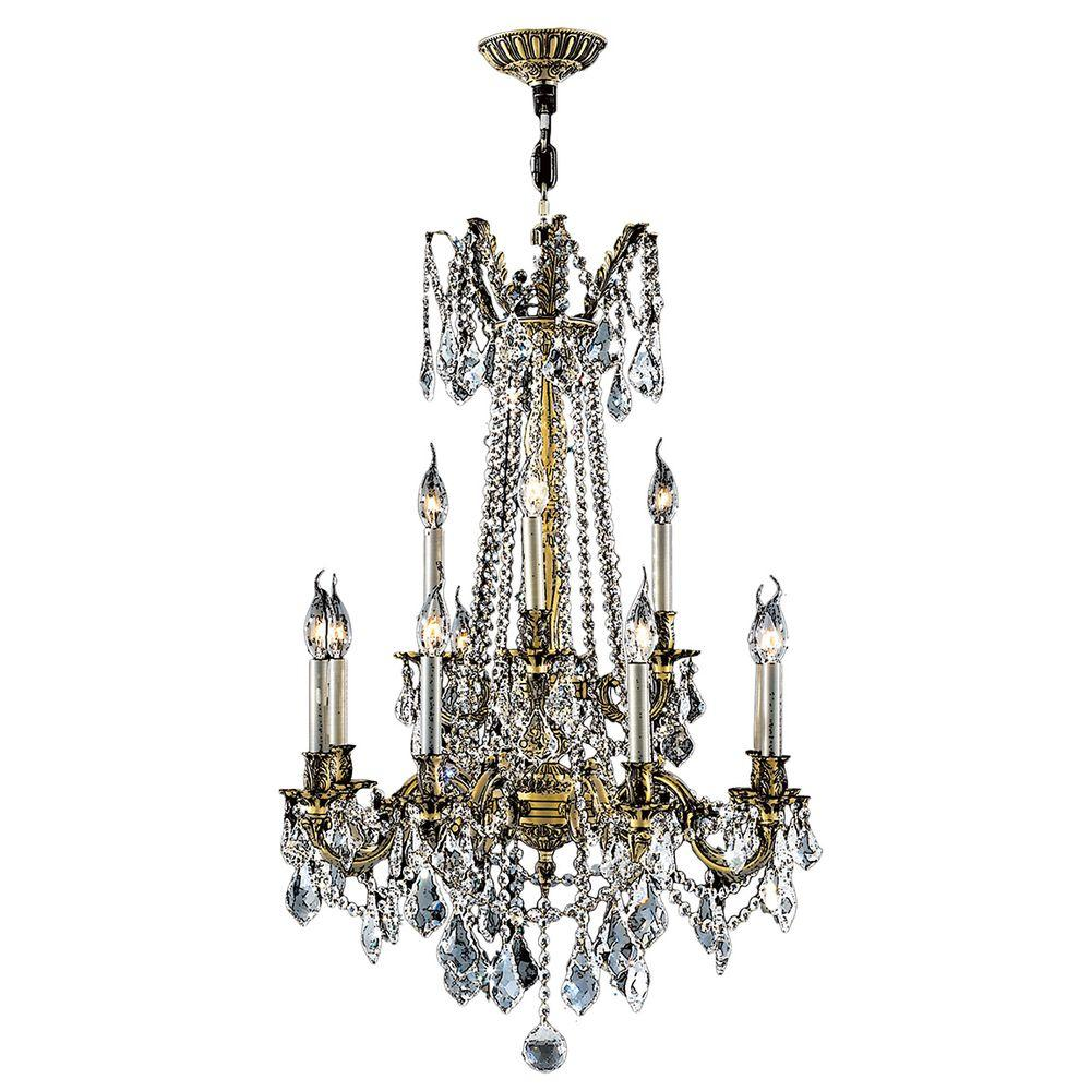 Worldwide Lighting Windsor Collection 12-Light Crystal and Antique Bronze