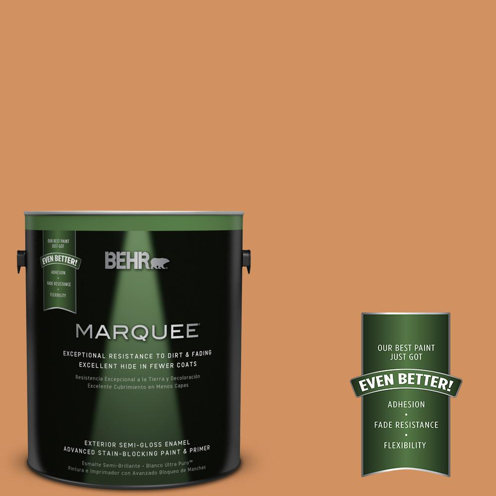 BEHR MARQUEE 1-gal. #BIC-15 Golden Poppy Semi-Gloss Enamel Exterior Paint