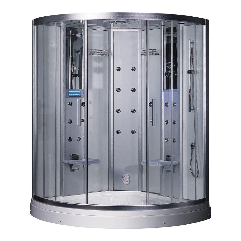 59 in. x 59 in. x 88.6 in. Steam Shower Enclosure