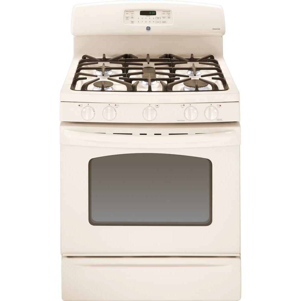 GE 5.0 cu. ft. Gas Range with Self-Cleaning Convection Oven in