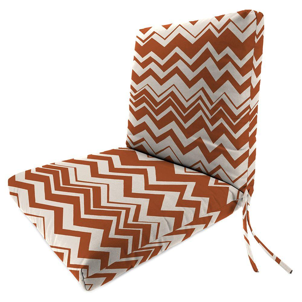 Home Decorators Collection Rizzy Rust Polyester Outdoor Chair Seat And Back Cushion