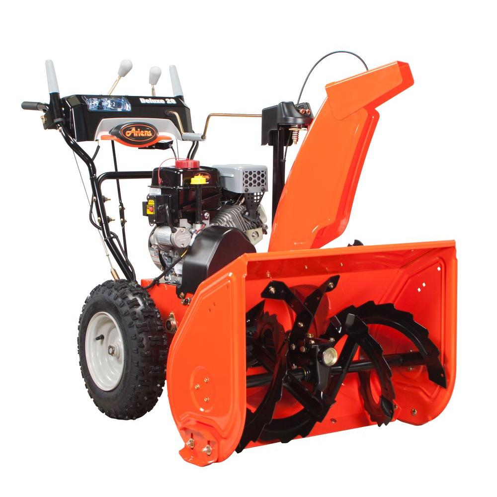 Ariens Snow Removal Deluxe 28 in. Two-Stage Electric Start Gas Snow Blower with Auto-Turn Steering 921030
