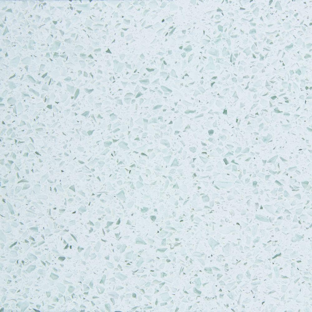 Silestone 4 in. Recycled Surfaces Countertop Sample in White Diamond