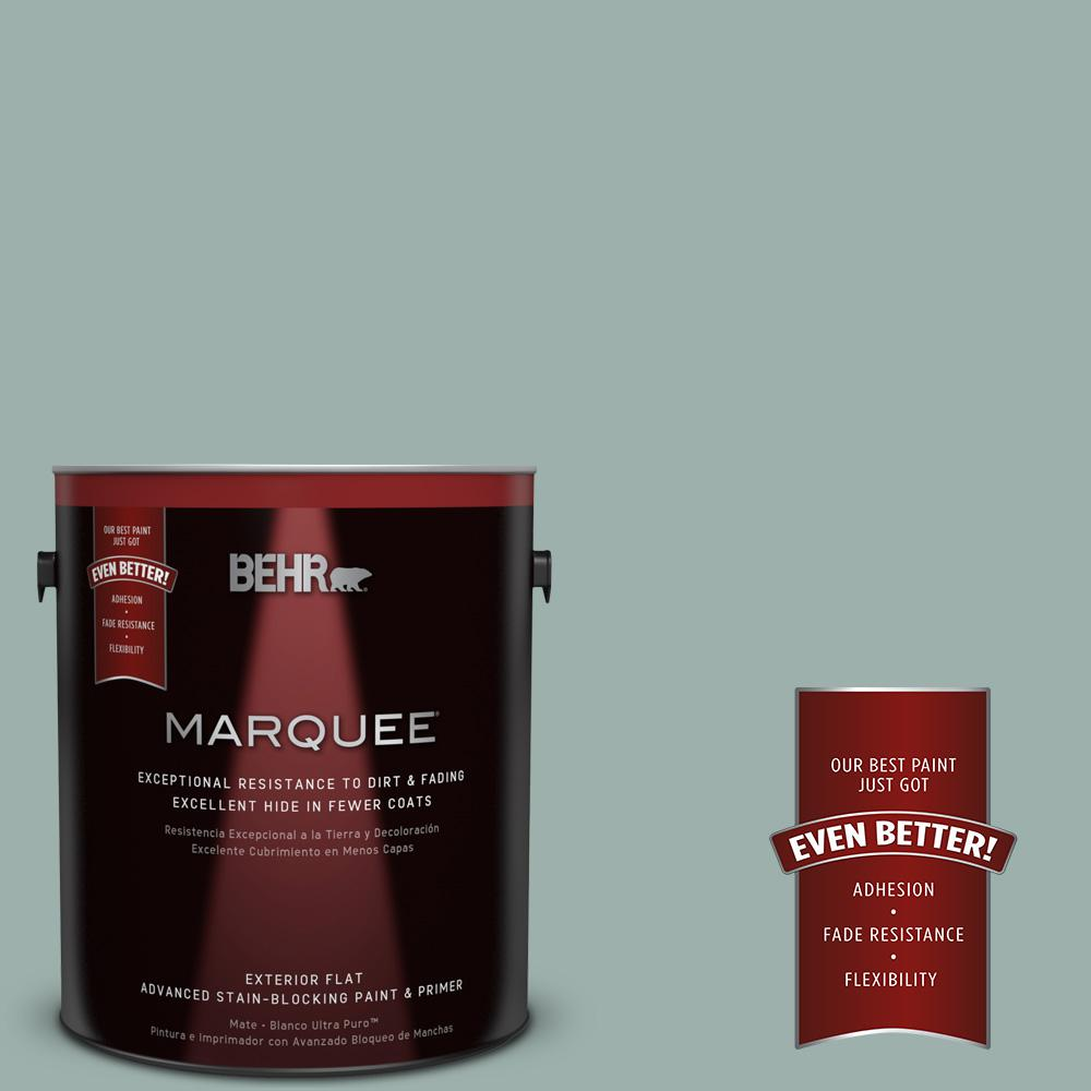 1-gal. #490F-4 Gray Morning Flat Exterior Paint