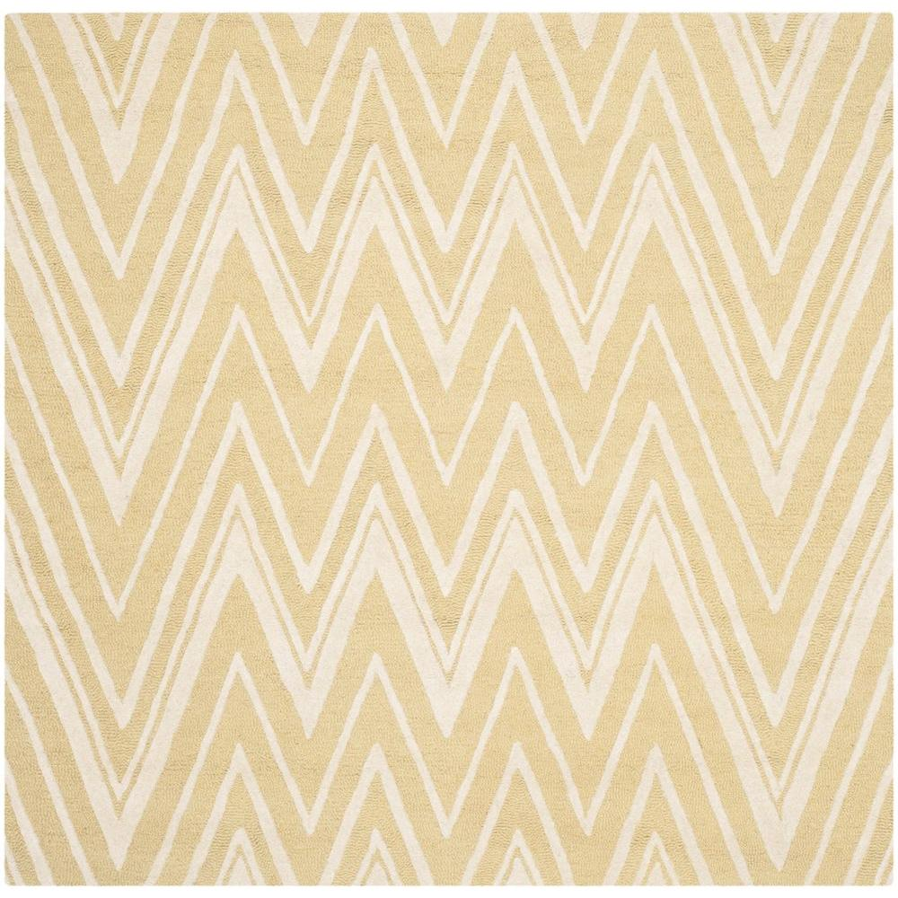 Cambridge Light Gold/Ivory 6 ft. x 6 ft. Square Area Rug