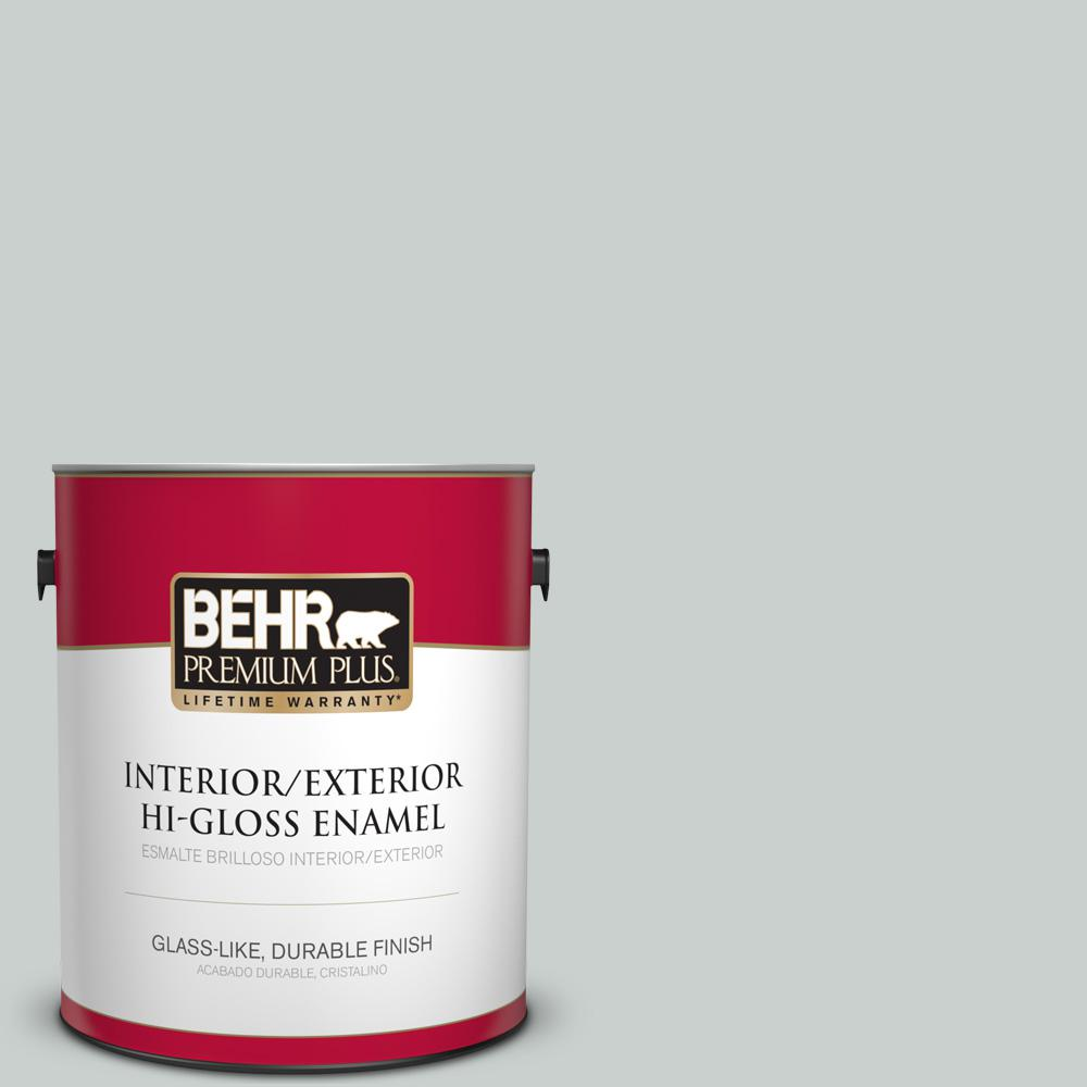 1 gal. #HDC-MD-06G Sparkling Silver Hi-Gloss Enamel Interior/Exterior Paint