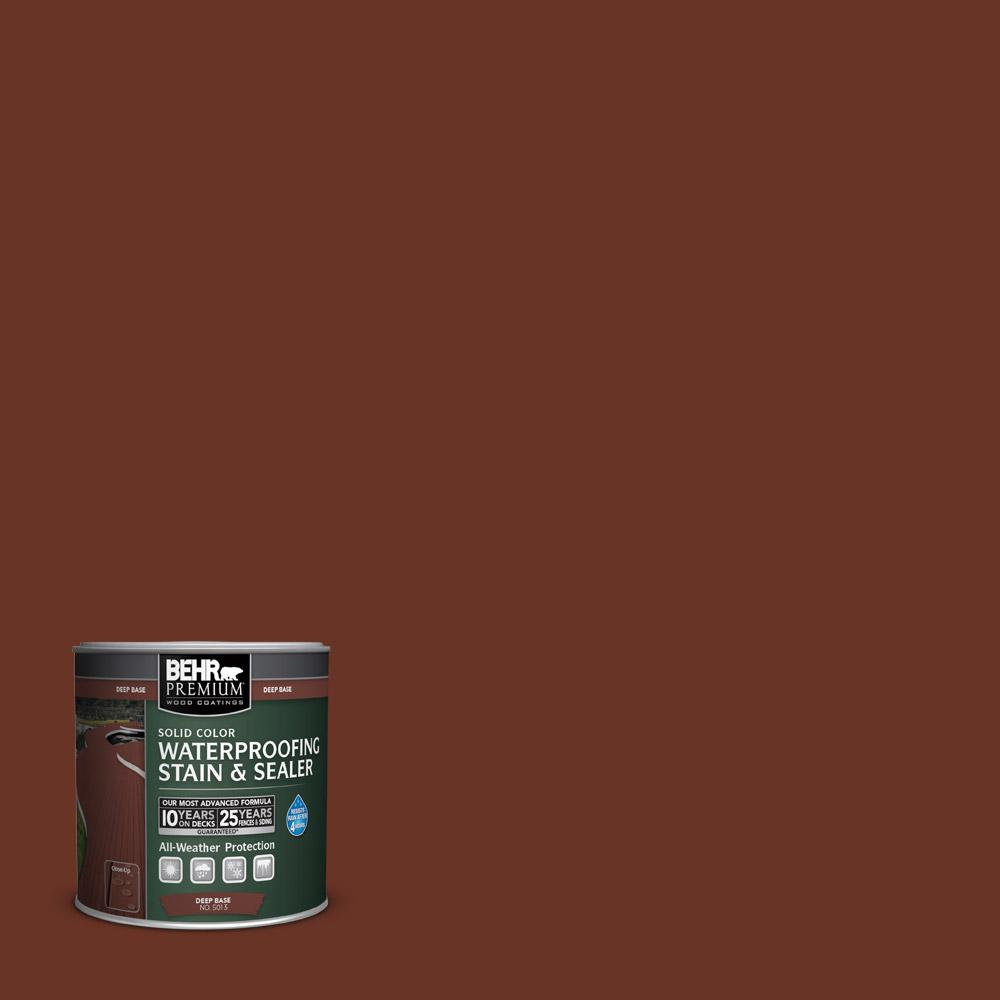 8 oz. #SC118 Terra Cotta Solid Color Waterproofing Stain and Sealer