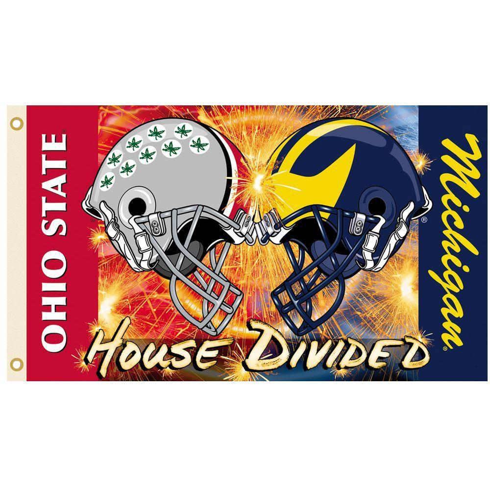 NCAA 3 ft. x 5 ft. Michigan/Ohio State Rivalry House Divided