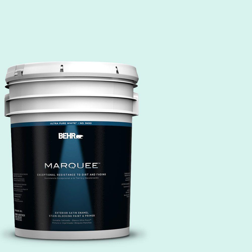 BEHR MARQUEE 5-gal. #480A-1 Minted Ice Satin Enamel Exterior Paint