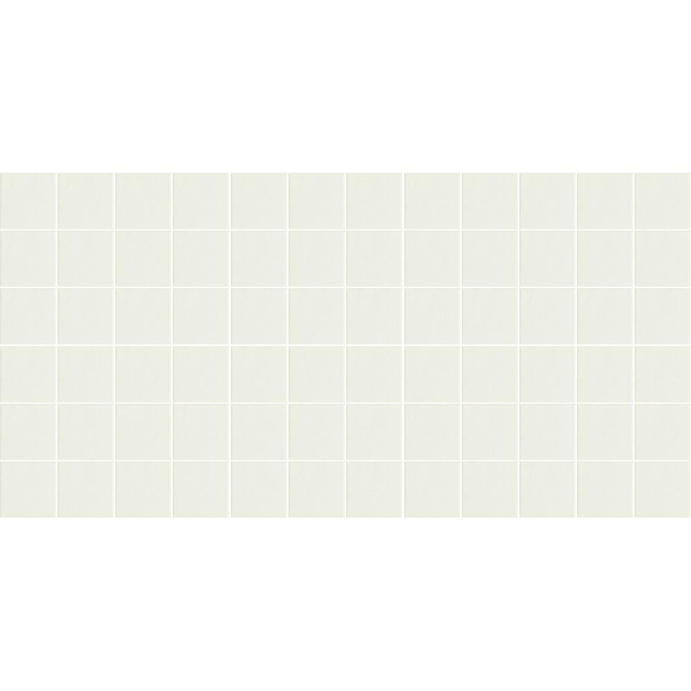 Daltile Keystones Unglazed Arctic White 12 in. x 24 in. x 6 mm Porcelain Mosaic Floor and Wall Tile (24 sq. ft. / case)