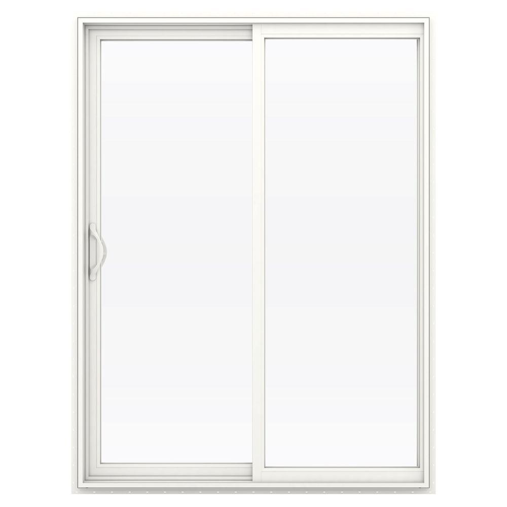 60 in. x 80 in. V-2500 Series Vinyl Sliding Low-E Glass