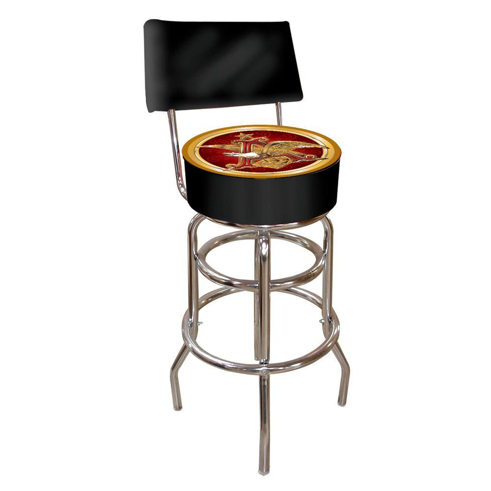 Trademark Budweiser A and Eagle Padded Swivel Bar Stool with Back-AB1100-AE