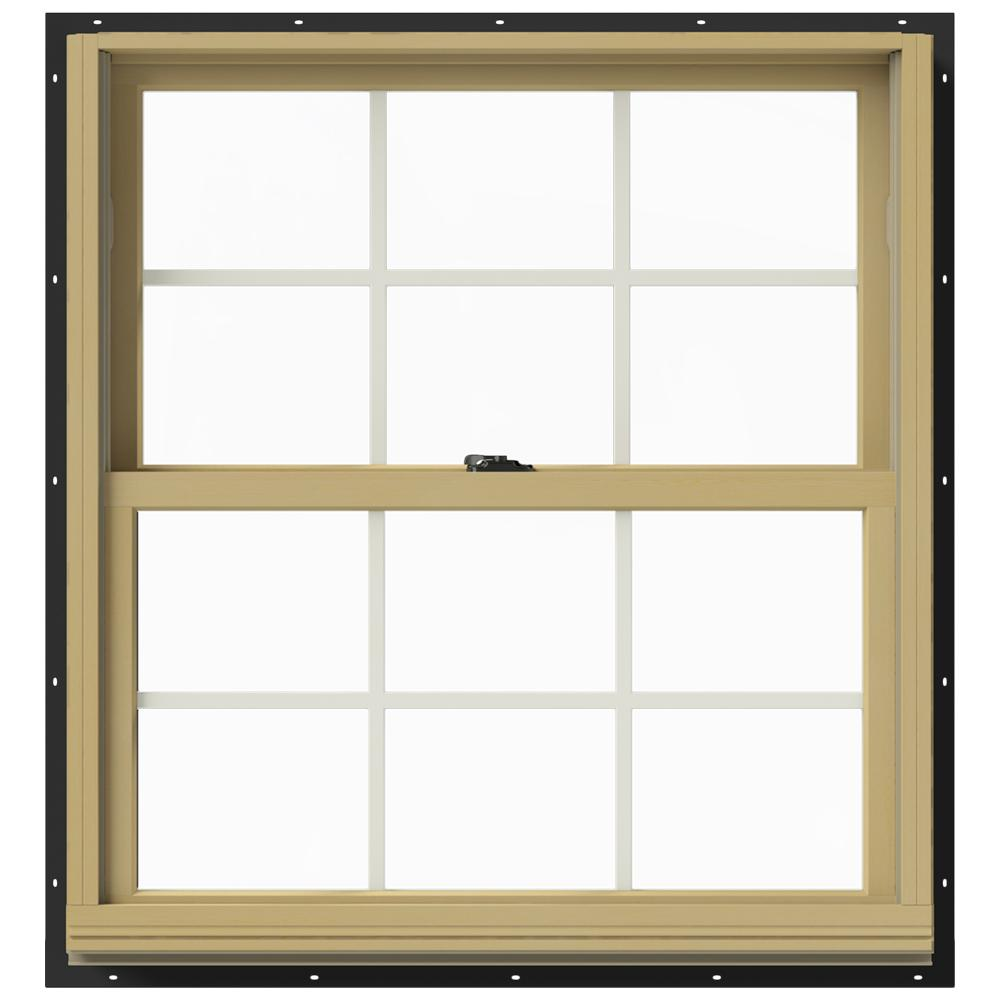 33.375 in. x 36 in. W-2500 Double Hung Aluminum Clad Wood