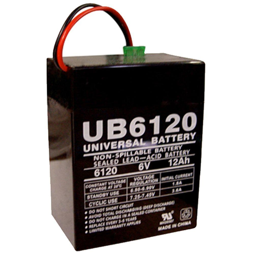 UPG SLA 6-Volt P2 Pressure Contact Terminal Battery-UB6120 TOY - The
