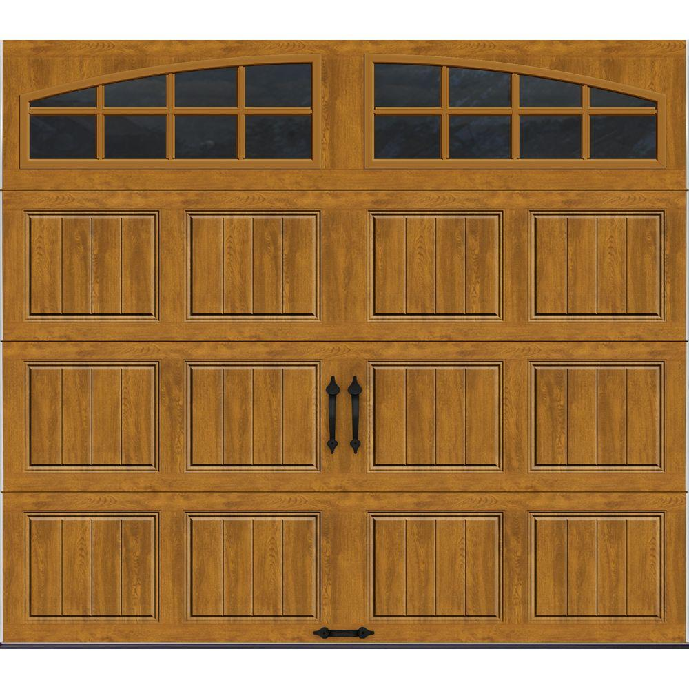 Clopay Gallery Collection 8 ft. x 7 ft. 6.5 R-Value Insulated Ultra-Grain Medium Garage Door with Arch Window