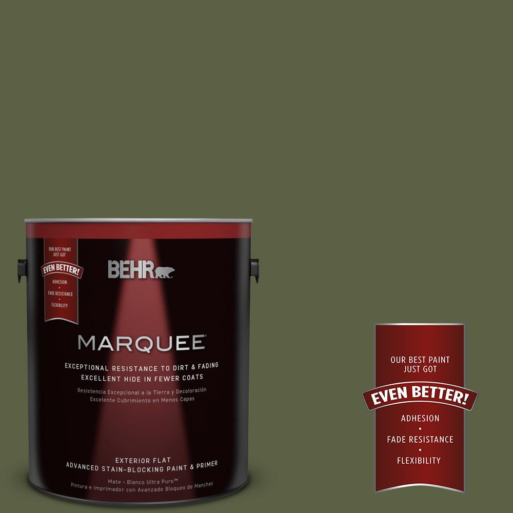 BEHR MARQUEE 1-gal. #S360-7 Down-to-Earth Flat Exterior Paint-445301 - The Home