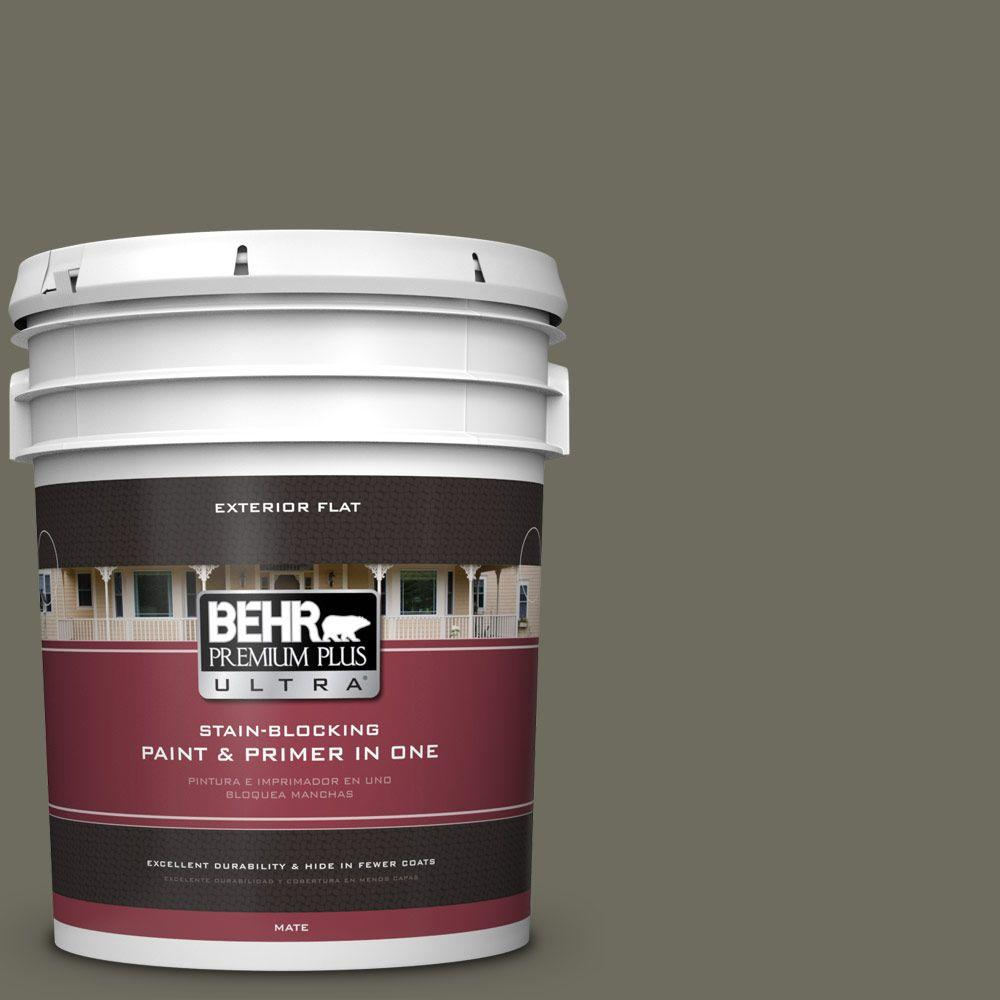 5-gal. #N370-6 Gladiator Gray Flat Exterior Paint