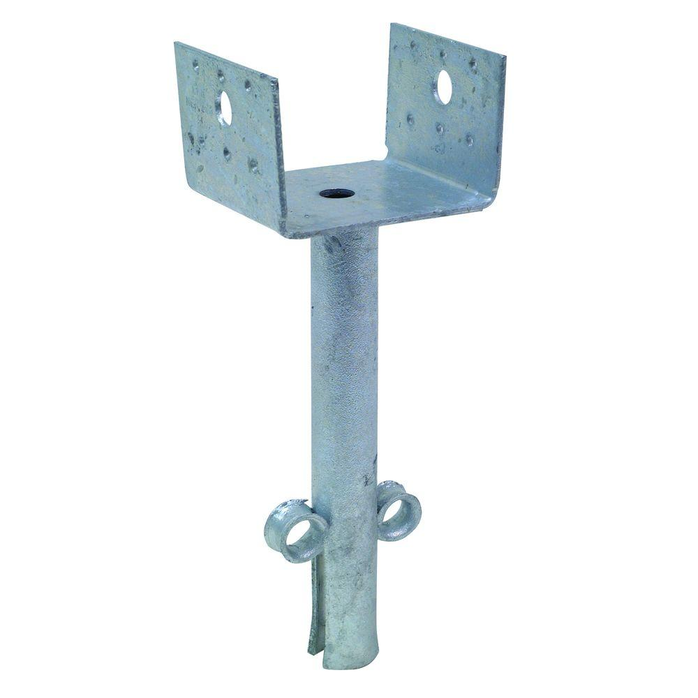 Hot-Dip 4 in. x 4 in. 12-Gauge Galvanized Elevated Post Base