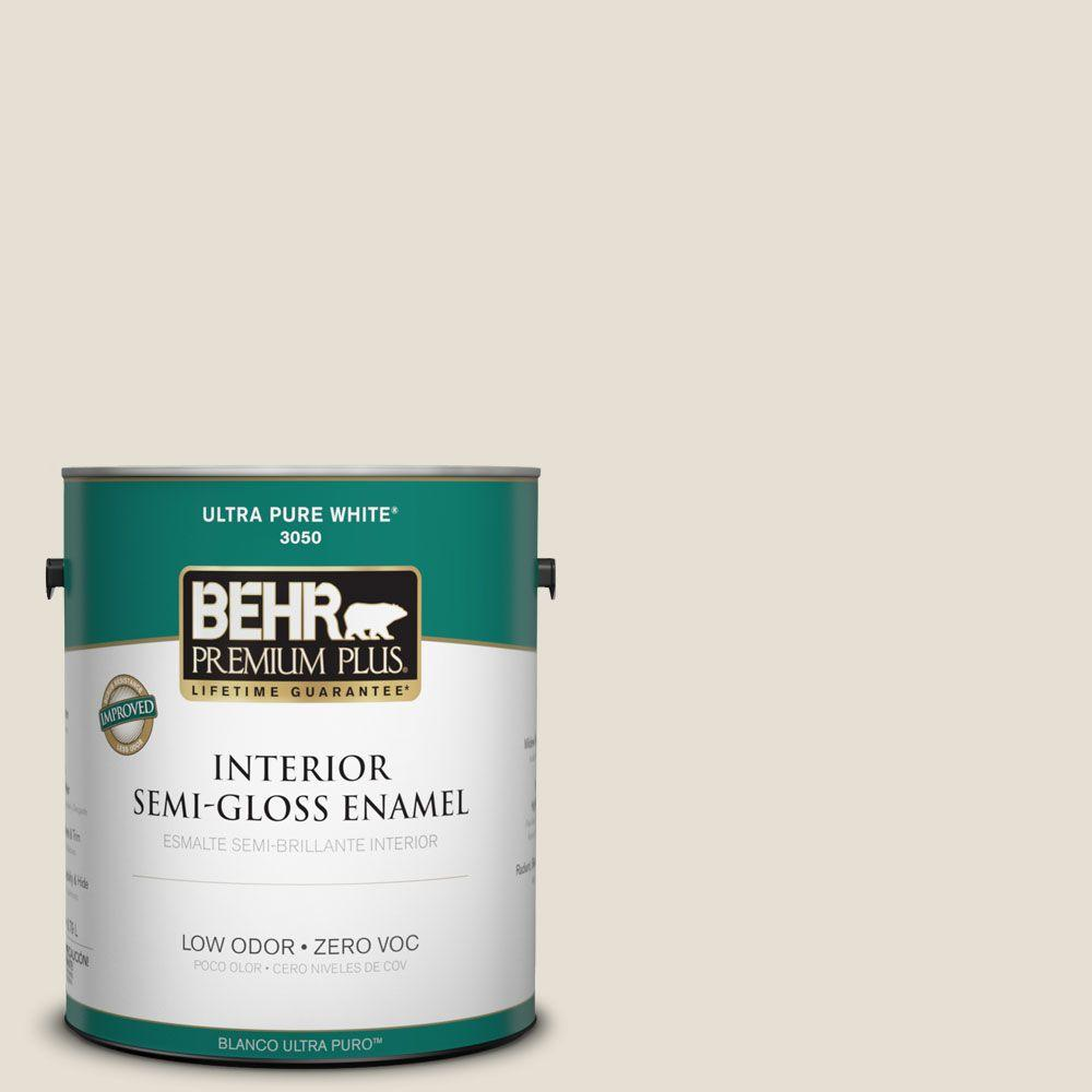 1 gal. #73 Off White Semi-Gloss Enamel Interior Paint