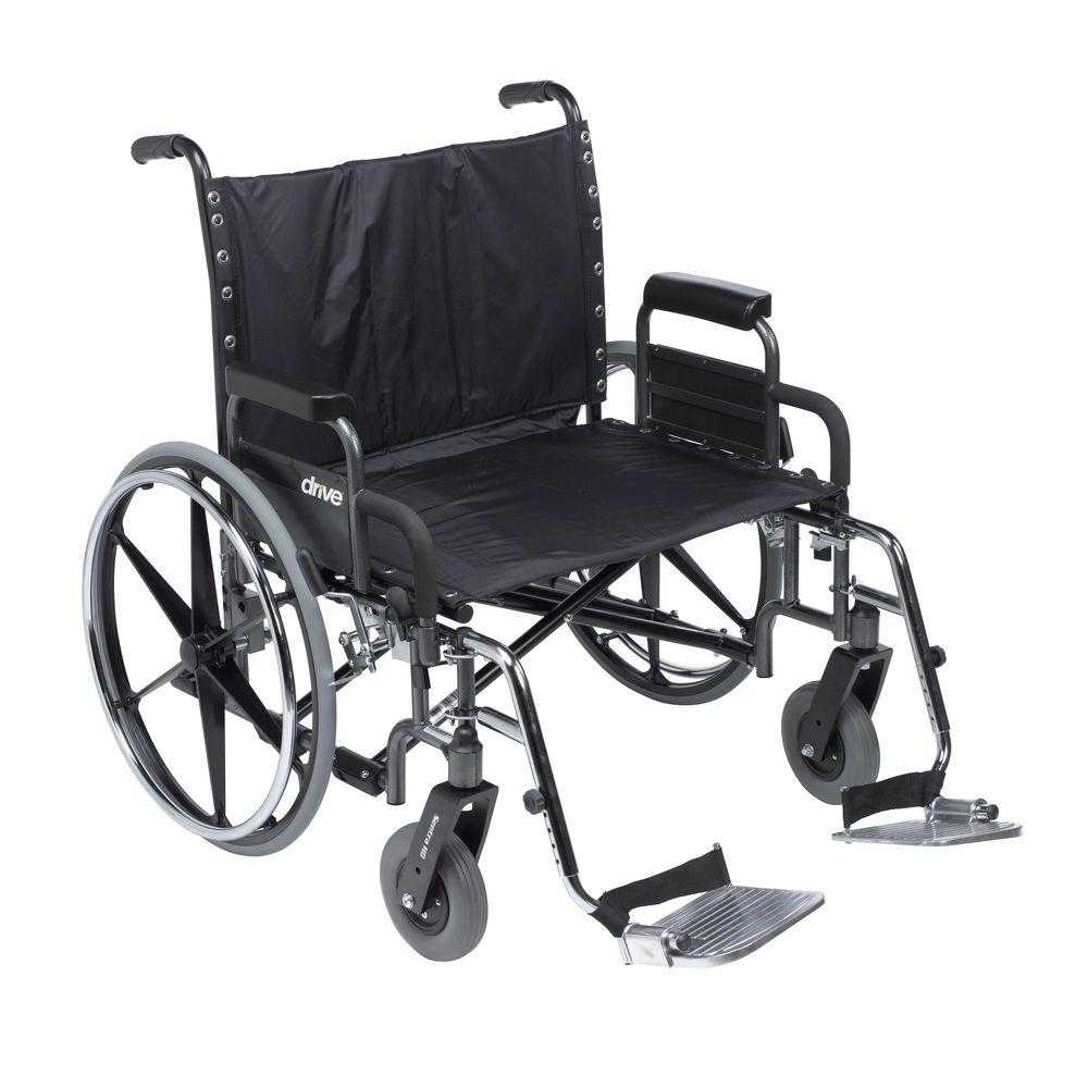 Deluxe Sentra Heavy Duty Extra Wide Wheelchair with Detachable Desk Arm