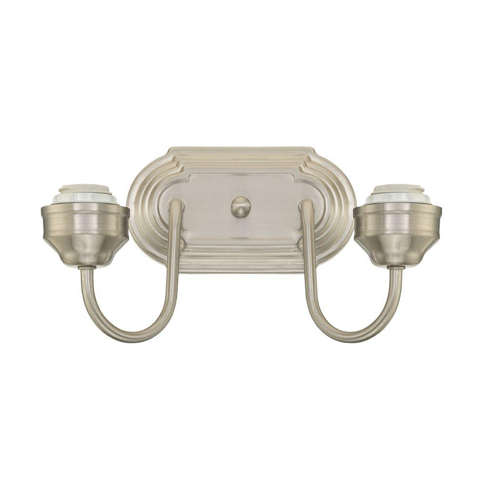 2-Light Brushed Nickel Wall Fixture