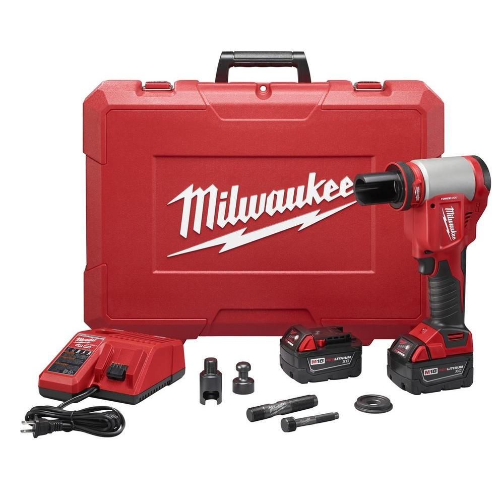 Milwaukee M18 18-Volt Lithium-Ion Cordless Force Logic High Capacity Knockout