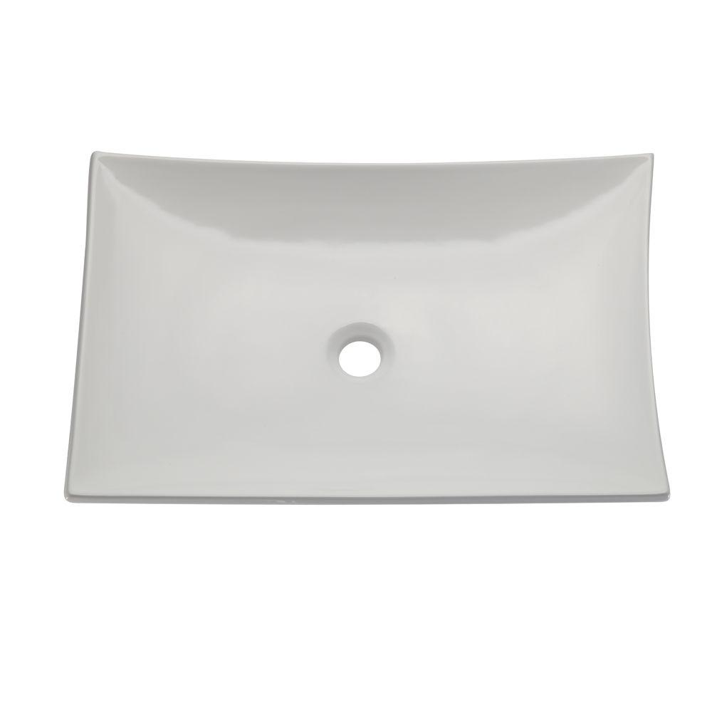 DECOLAV Classically Redefined Vessel Sink in White-1443-CWH - The Home Depot