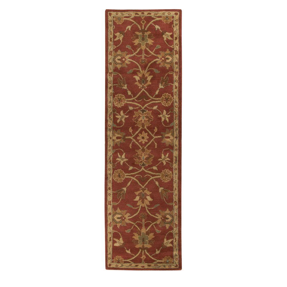 Home Decorators Collection Kent Red 2 ft. 3 in. x 10 ft. Rug Runner