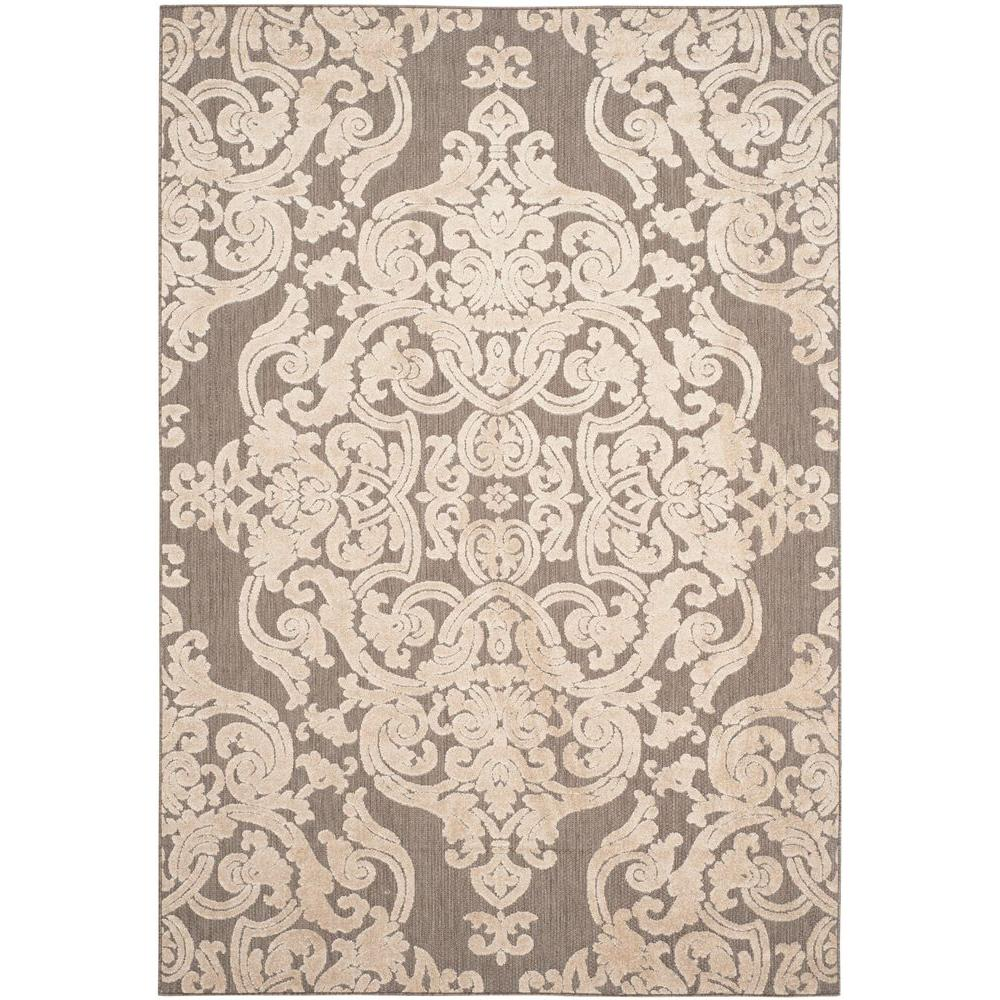 Safavieh Monroe Taupe 4 ft. x 6 ft. Indoor/Outdoor Area Rug-MNR152T-4