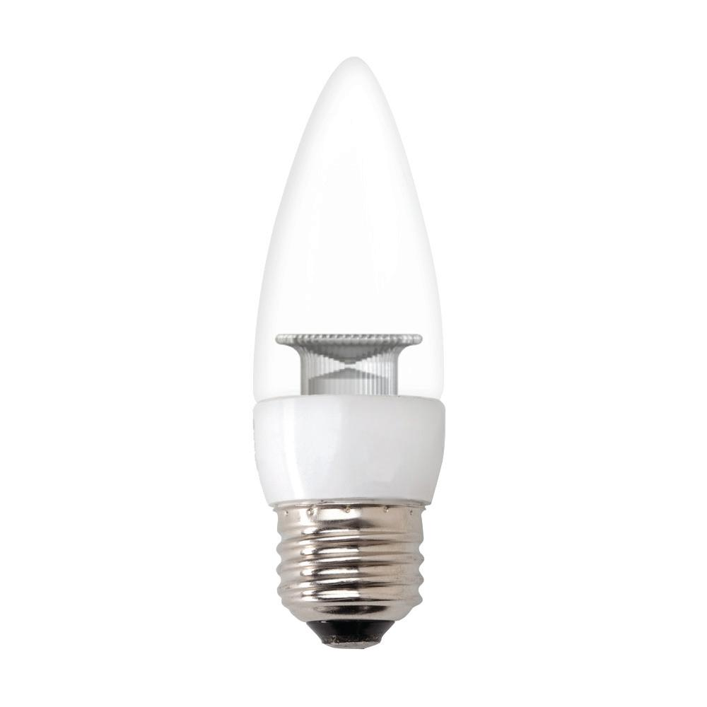 GE 40W Equivalent Daylight (5000K) High Definition CA10 Blunt Tip Clear