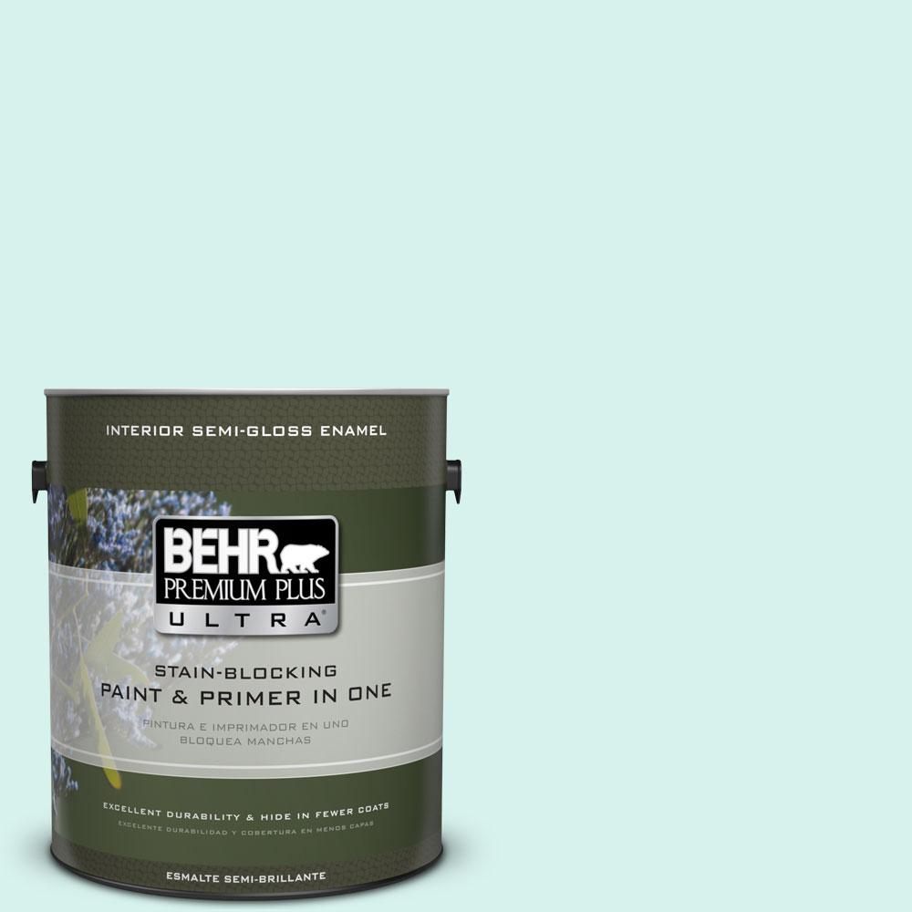 1-gal. #480A-1 Minted Ice Semi-Gloss Enamel Interior Paint