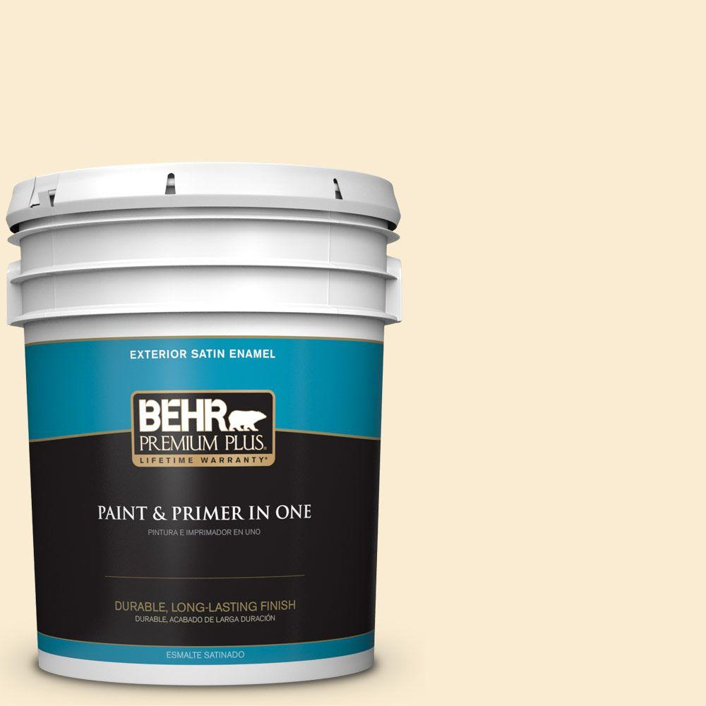 5-gal. #OR-W4 Nice Cream Satin Enamel Exterior Paint