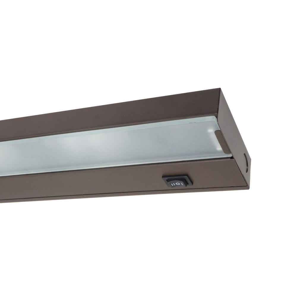 home depot under cabinet lighting nicor 30 in xenon bronze cabinet light fixture 16500