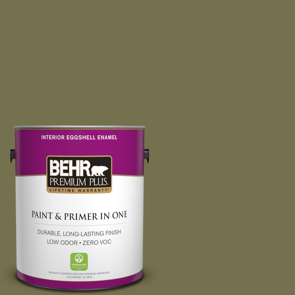 1-gal. #S350-6 Truly Olive Eggshell Enamel Interior Paint