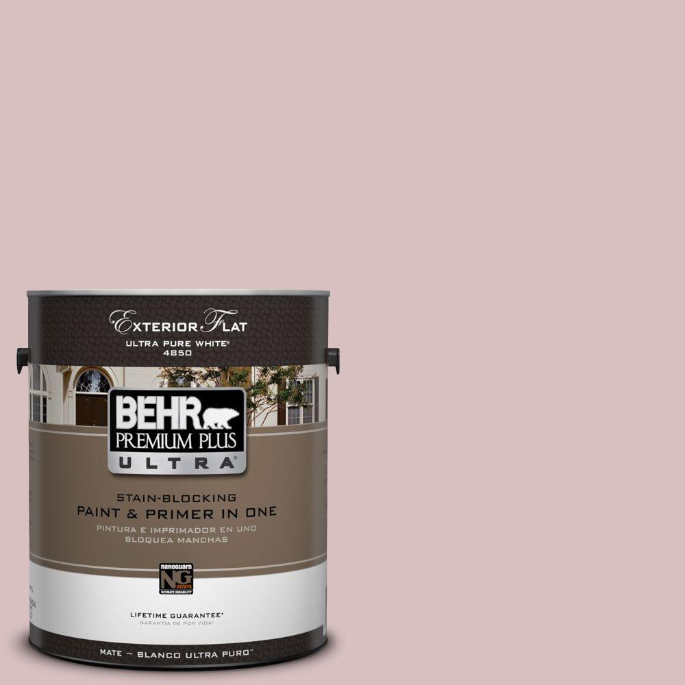 BEHR Premium Plus Ultra 1-Gal. #UL100-13 Peony Blush Flat Exterior Paint-DISCONTINUED