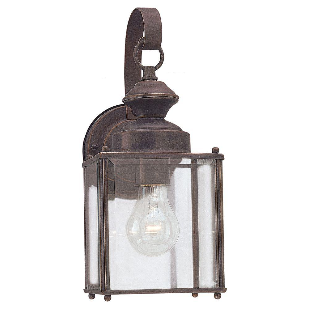 Sea Gull Lighting Jamestowne 1-Light Antique Bronze Outdoor Wall Fixture