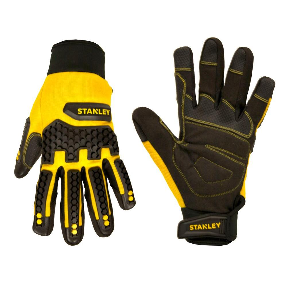 Stanley Men's Medium Synthetic Leather Impact Pro Gloves,...
