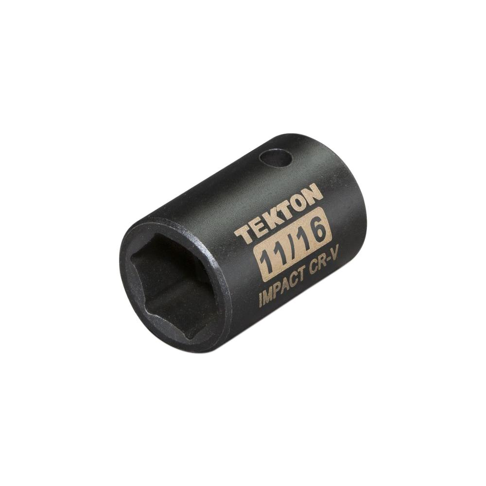 1/2 in. Drive 11/16 in. 6-Point Shallow Impact Socket