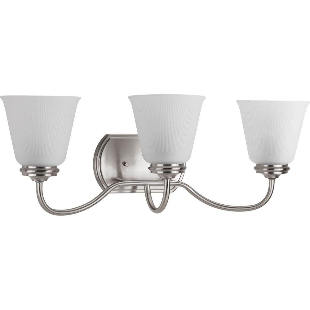 Keats Collection 3-Light Brushed Nickel Vanity Light