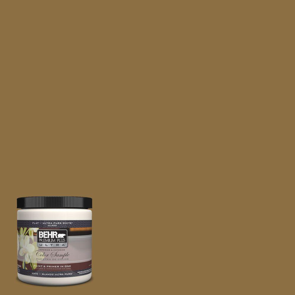 8 oz. #330F-7 Nutty Brown Interior/Exterior Paint Sample