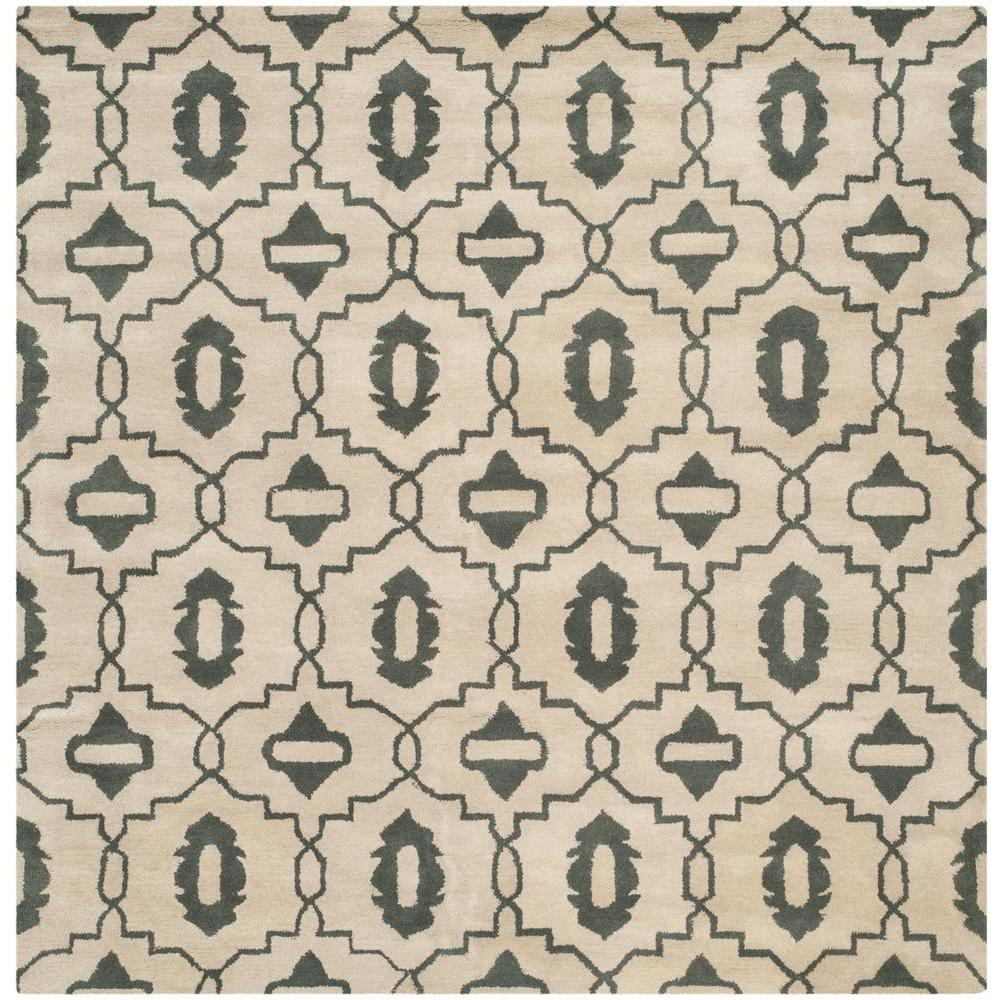 Chatham Beige/Grey 7 ft. x 7 ft. Square Area Rug