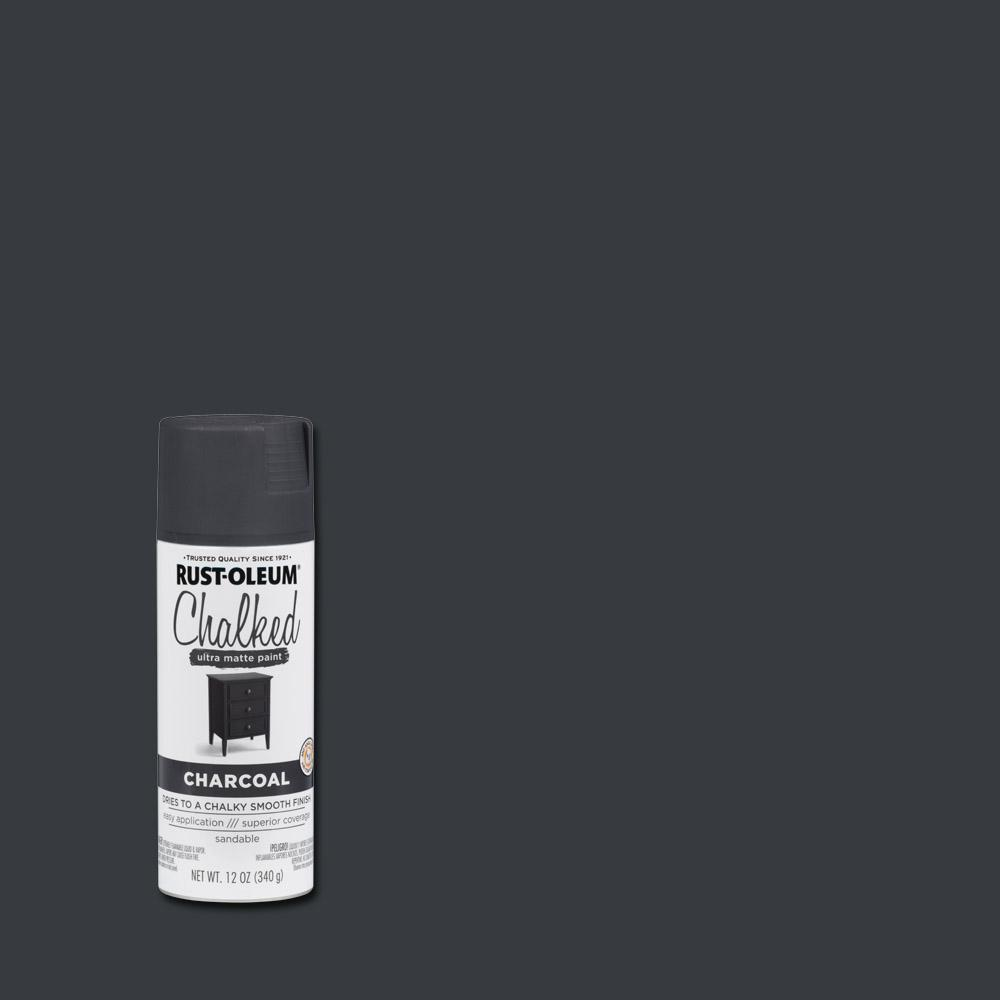 12 oz. Ultra-Matte Interior Chalked Spray Paint, Charcoal (6-Pack)