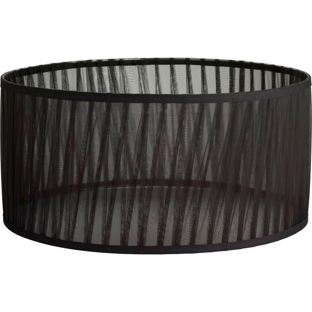 Progress Lighting Noir Collection Black Chiffon Accessory Shade-P8772-01 - The