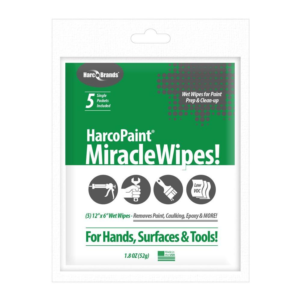 Harco Brands HarcoPaint Miracle Wipes (5-Pack)-3348 - The Home Depot