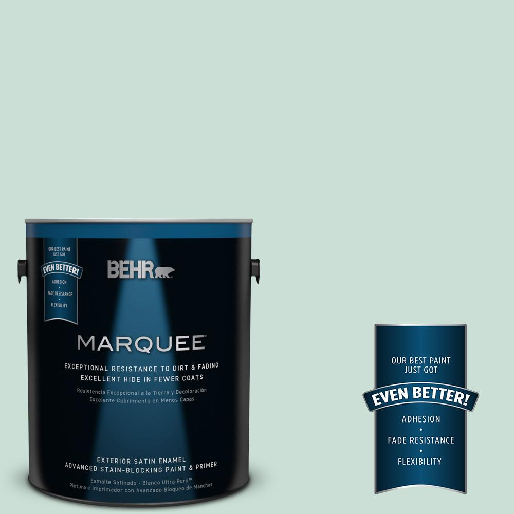BEHR MARQUEE 1-gal. #M430-2 Ice Rink Satin Enamel Exterior Paint-945001 -
