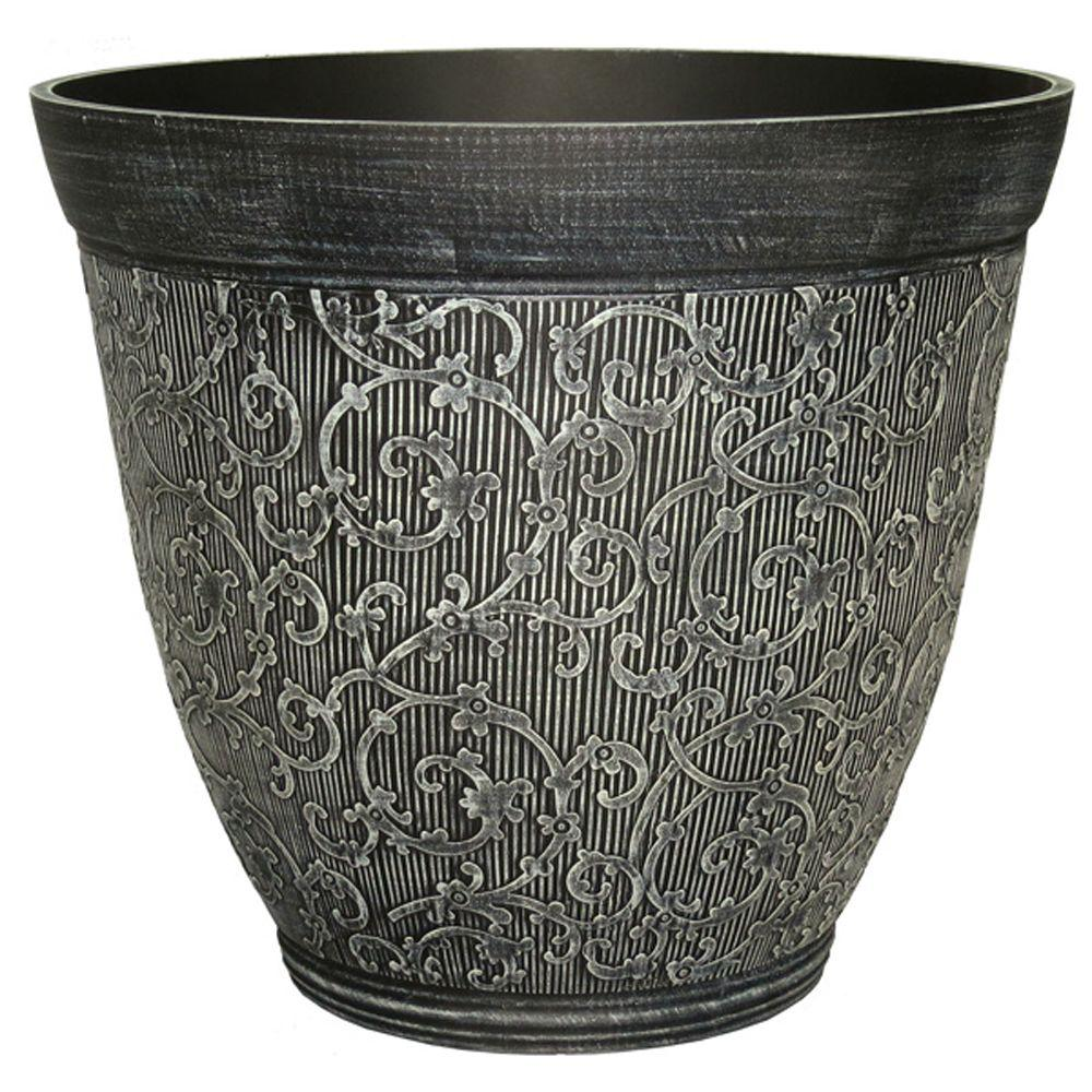 null 13 in. Chalk Plastic Florence Planter