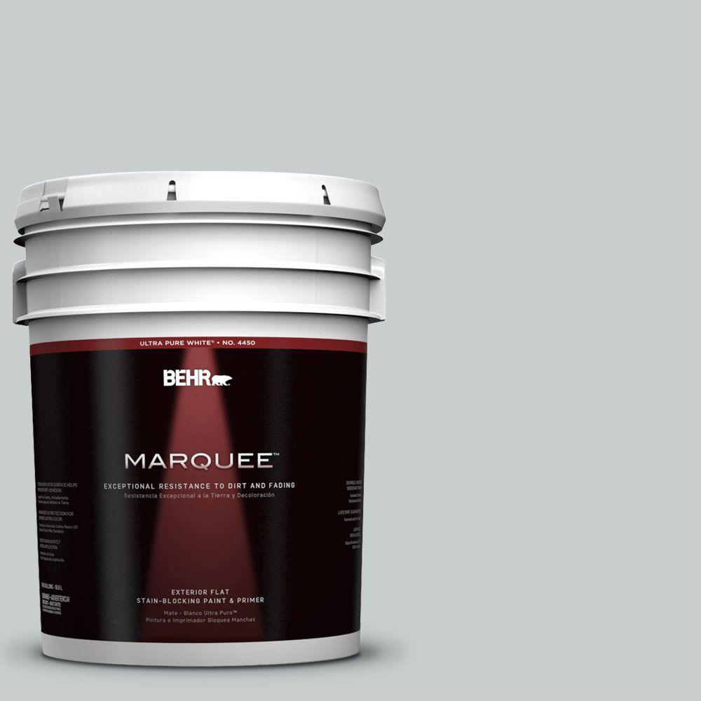 BEHR MARQUEE 5-gal. #720E-2 Light French Gray Flat Exterior Paint-445005 -