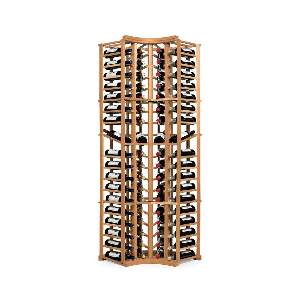 null Wine Enthusiast N'FINITY 74 in. H x 25 in. W x 13.25 in. D Wine Bottle Rack in Natural
